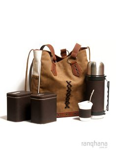 BOLSO MATERO BEIGE CON LEOPARDO Gaucho, Picnic Box, Beige, Sewing, Leather, Yerba Mate, South America, Tea Time, Camping