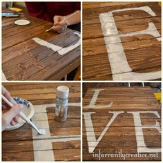 Pallet Projects | Once dry I sanded the letters down so that the wood would peek ...