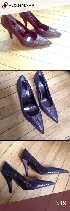 """NWOT moda spara brown 4"""" heels Sparkly brown heels, size 8, never worn. New without tags. Heels are 4"""". moda Shoes Heels"""