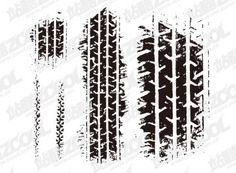 Tire marks Vector material