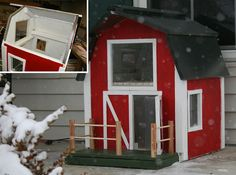 heated out door cat house, custome built one at a time,  <3  this!