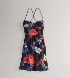 American Eagle Women's Floral Corset Dress