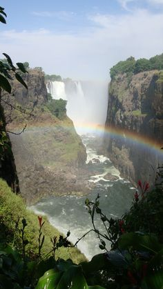 Victoria Falls, Zimbabwe. I white-water rafted down the Zambezi River when I was living and working in neighbouring South Africa