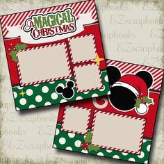 Magical Christmas Disney - 2 Premade Scrapbook Pages - EZ Layout 2191 - Scrapbooking Ideas Scrapbook, Album Scrapbook, Recipe Scrapbook, Scrapbook Layout Sketches, Disney Scrapbook Pages, Wedding Scrapbook, Baby Scrapbook, Scrapbook Supplies, Scrapbooking Layouts
