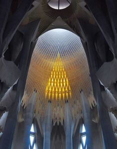 Sagrada Familia skylight, Barcelona, Spain