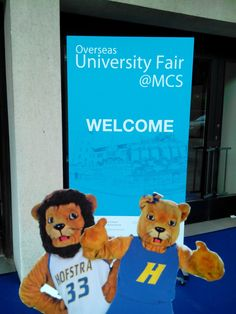 We're at the Overseas University Fair at Maryknoll Convent School in Hong Kong.