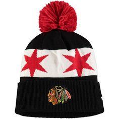 Reebok Chicago Blackhawks Black 2016 Stadium Series Player Cuffed Knit Hat with Pom