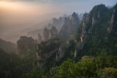 Almost got stuck taking photos on top of Zhangjiajie when the park closed at sunset... worth it! - Imgur