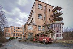 Sanatorium Dolhain,herstellingsoord,oude brandweerauto,urbex,belgië,urbexlocaties