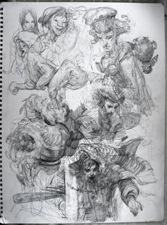 Sketches from imagination by Lukias from conceptart.org.