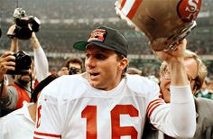 "San Francisco quarterback Joe Montana comes in as the fourth best player in NFL history on NFL Film's ""The Top NFL's Greatest Players"" list 49ers Super Bowl Wins, 49ers Players, Football Players, 49ers Quarterback, Forty Niners, Joe Montana, Nfl History, American Sports, Professional Football"