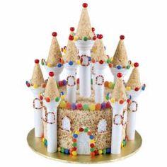 Kingdom of Sweet Dreams Crispy Rice Cereal Treat castle - Wilton design Rice Crispy Treats, Krispie Treats, Rice Krispies, Wilton Cake Decorating, Cake Decorating Supplies, Wilton Cakes, Cupcake Cakes, Cereal Treats, Rice Cereal