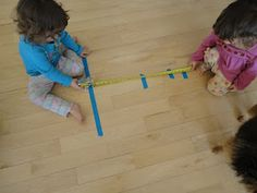 """Olympic """"track and field events"""" to add number awareness to a toddler's day! What a FUN idea!"""