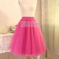 adult tulle skirt,hot pink tulle skirt