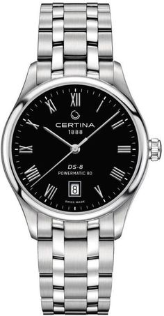 Certina Watch DS 8 Powermatic 80 #add-content #basel-17 #bezel-fixed #bracelet-strap-steel #brand-certina #case-depth-10-45mm #case-material-steel #case-width-39mm #date-yes #delivery-timescale-call-us #dial-colour-black #gender-mens #luxury #movement-automatic #new-product-yes #official-stockist-for-certina-watches #packaging-certina-watch-packaging #style-dress #subcat-ds-8 #supplier-model-no-c033-407-11-053-00 #warranty-certina-official-2-year-guarantee #water-resistant-100m