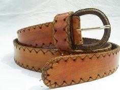 cinturón artesanal en cuero   Flickr - Photo Sharing! Costura artesanal en hilo encerado. $ 38.000 contacto 3007191348 Colombia