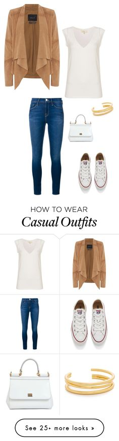 """""""casual"""" by hailey-massengale on Polyvore featuring Oui, Linea Weekend, Frame Denim, Converse, Dolce&Gabbana and Madewell"""