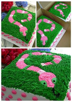 Girly snake cake...Eek! ~ My Sweet Things