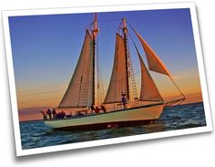 Maybe a sunset champagne cruise on the Appledore V? Never sailed on a tall ship before...