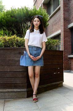 cute ,denim skirt ,jeans,korean style ,korea fashion