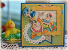 Summertime Blues  with Art Impression stamps