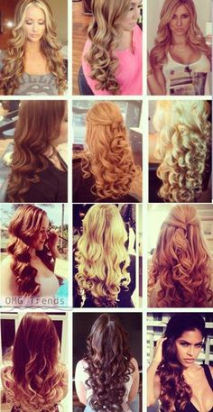 Types of Curls, using one wand.