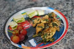 Spinach & Chicken Fajitas with Avocado Roll-ups