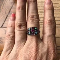 Image may contain: one or more people and ring Jewelry Stores, Turquoise, Jewellery, Bridal, Rings, People, Shopping, Image, Jewels