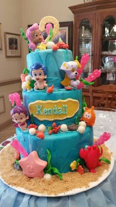 Kendall's Bubble Guppies cake