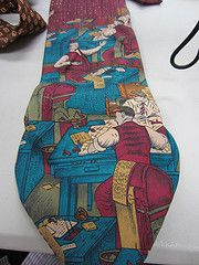 Another tie, ready to go into a crazy quilt.