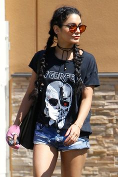 WHO: Vanessa Hudgens WHERE: On the street, Los Angeles WHEN: August 27, 2015