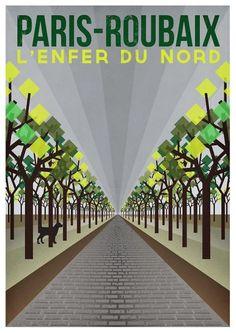 Cycling Art Print 'Paris-Roubaix' - Cycling Art Print – Paris-Roubaix (Size x - Paris Roubaix, Roubaix France, Velo Vintage, Vintage Cycles, Bike Illustration, Bike Poster, Cycling Art, Road Cycling, Cycling Quotes