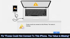 How To #Fix #iTunesCouldNotConnectToThisiPhone. The #ValueIsMissing. #Update #iTunes. Restart #Computer And Check USB Cable & USB Port. #Uninstall and Reinstall iTunes. Delete Restrictions On #iPhone. Force Restart iPhone. #Boot iPhone Into #DFUMode. Try #iTunesRepair #Software. Apple Support, Data Recovery, Ipod Touch, Itunes, Connection, Ios, Software, Cable, Iphone