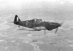 "Fighter ""Defiant"" 256 Squadron RAF in flight"