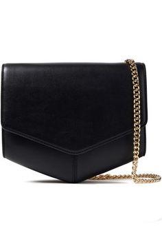 SANDRO Color-block leather shoulder bag. #sandro #bags #shoulder bags #leather Leather Crossbody Bag, Leather Bag, Designer Shoulder Bags, Denim Shop, Jimmy Choo Shoes, Sandro, Discount Designer, Bag Sale, Leather Shoulder Bag