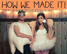 DIY Men Halloween Costumes: DIY Halloween DIY Costumes: Tooth + Tooth Fairy Costume DIY Tutorial