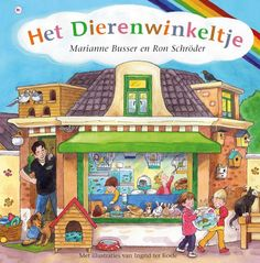 Hét boek voor alle kinderen vanaf 3 jaar over grote en kleine dierenvriendjes!  Bastiaan heeft een dierenwinkeltje. En omdat hij heel veel van dieren weet, komt iedereen graag naar zijn winkel. Niet alleen om dingen te kopen, maar natuurlijk ook om van alles te vragen!  Want heb jij misschien een hondje of een poesje of een vis dan moet je er wél voor zorgen dat zo'n dier gelukkig is! Safari, Pet Shop, Farm Animals, Elementary Schools, My Friend, My Books, Comics, Pets, Pictures