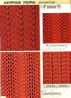 Kira knitting: Knitted pattern no. Lace Knitting Patterns, Knitting Stiches, Knitting Charts, Lace Patterns, Knitting Designs, Knitting Projects, Crochet Stitches, Stitch Patterns, Knit Crochet