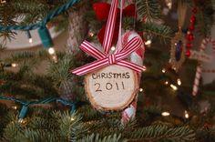 Christmas tree trunk ornament +25 Beautiful Handmade Ornaments - NoBiggie.net