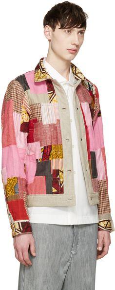 Junya Watanabe Beige Reversible Canvas Levi's Edition Jacket