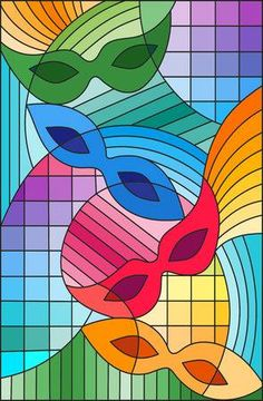 Imagens, fotos stock e vetores similares de Illustration in stained glass style with abstract red geometric cat - 714225499 Geometric Cat, Geometric Painting, Stained Glass Quilt, Stained Glass Designs, Warm And Cold Colours, School Murals, Hand Embroidery Videos, Alternative Art, Illustration