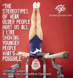 Inspiring 88 year old gymnast.