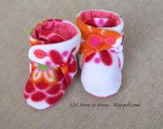 Como hacer botines de fieltro con moldes