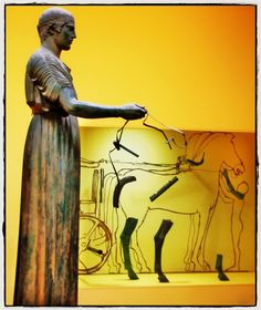 The Charioteer of Delphi (Ηνίοχος των Δελφών), one of the best known ancient Greek statues and one of the best preserved examples of classical bronze casts ~ Delphi Museum