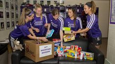 On Wednesday, April 2, the JMU Women's Soccer team came together and completed the third part of their ongoing service project, sending packages to troops stationed in Afghanistan.