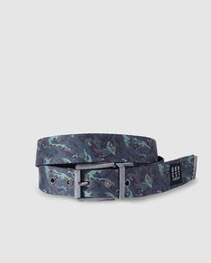 Green Coast Mens Reversible Black And Printed Belt in Black for Men - Lyst 1737ec8bfdaf5