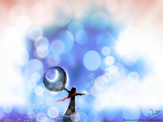 Manchmal freuen wir uns einfach auf ein bevorstehendes Ereignis, oder Menschen, die wir wieder sehen. Sie treten aus dem verschwommenen Schatten ins Licht.  Make Myday die Abenteuer der kleinen Fee als Kalender und FineArt http://www.spielweltv3galerie.com/shop/make-myday/