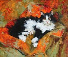 Maria Pavlova - gorgeous cat painting!