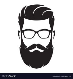 Bearded man s face hipster character fashion Vector Image , Beard Logo, Joker Hd Wallpaper, Beard Art, Fashion Silhouette, Beard Silhouette, Love Silhouette, Fashion Vector, Black Aesthetic Wallpaper, Hair Sketch