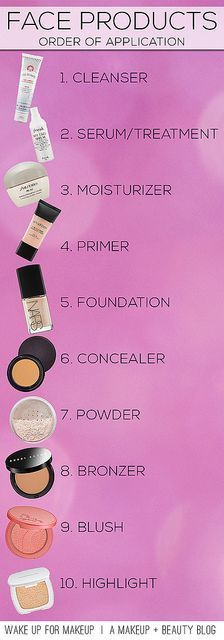 Order to apply products via Wake Up For Makeup